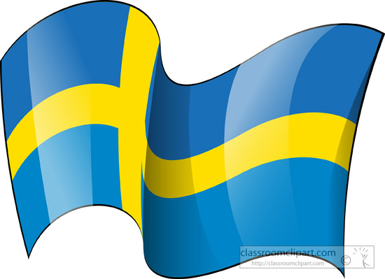 Sweden flag waving clipart