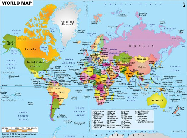 World Political Map 2000px